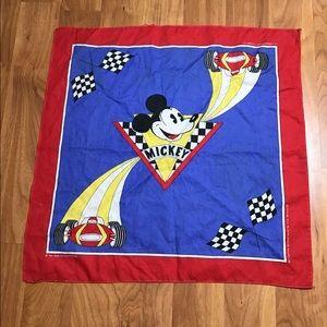Vintage 90s mickey mouse racing bandana